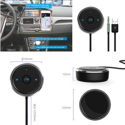 AUX Bluetooth Adapter Hands Free Car Kit Audio Receiver Support Siri & Android