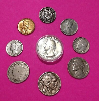 Mercury Silver Dime/1976 Proof Quarter Starter Collection  Mix Lot of 9 +3 Free