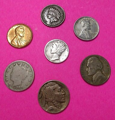 Mercury Silver Dime Starter Collection w/ Silver War Nickel Mix Lot of 7 +3 Free