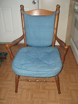 Antique Wooden Accent Chair with Arms * Maple