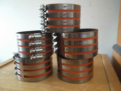 Anaco Husky 4 inch 4 band no hub coupling.  Five Piece lot NEW UNUSED STOCK