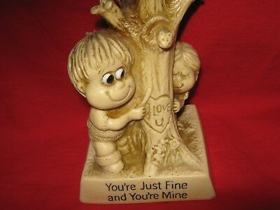 Girlfriend Birthday Gift You're Mine and Fine Figurine Statue  Russ Berrie