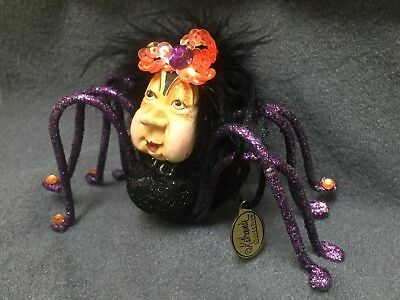 Katherine's Collection -  Halloween Creepy Old Lady Spider Doll Ornament -
