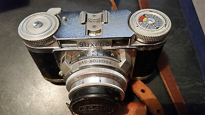 vintage paxette braun camera with bewi light meter both in cases