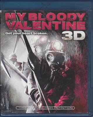 My Bloody Valentine 3D (3D Blu-Ray Disc Only - 2009) Good Used ~ Jensen Ackles