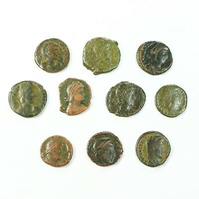 Ten (10) Nicer Ancient Roman Coins c. 100 - 375 A.D. Exact Lot Shown rm3507
