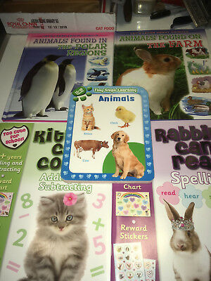 Kittens Rabbits Farm 5 years plus  5 BOOK lot all new all gift ready