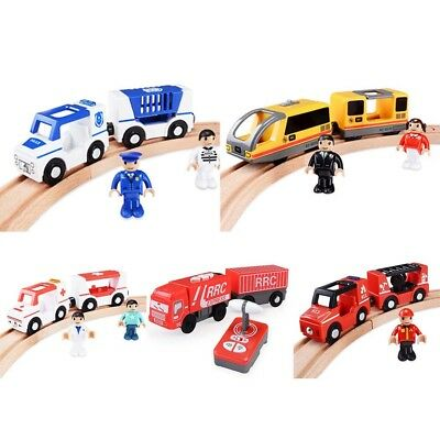 Magnetic Electric Train Toy Wooden Railway Track Electric Train Cabin Set Gifts