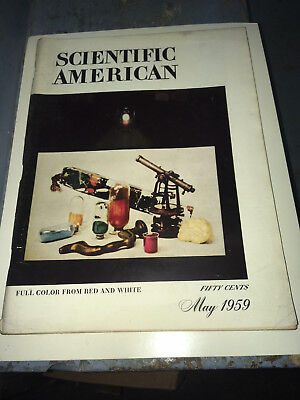 May 1959 Scientific American Magazine Full Color  Born? Gift ready  architect?