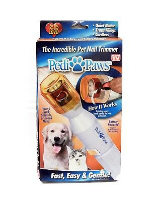 Pedi Paws Nail Trimmer Grinder Grooming Tool Care Clipper For Pet Dog Cat New