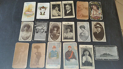 18 x vintage cigarette cards