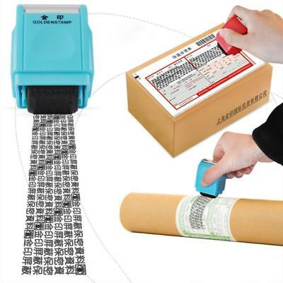 Self Inking Privacy ID Protect Security Stamp Erase Roller Hide Identity &AU*^