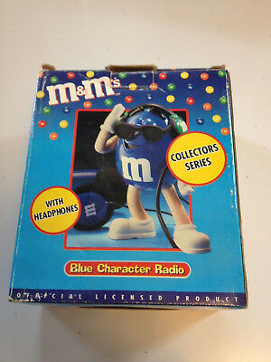 M&M's Blue and Yellow Character Radio Collector Series with Headphones boxed