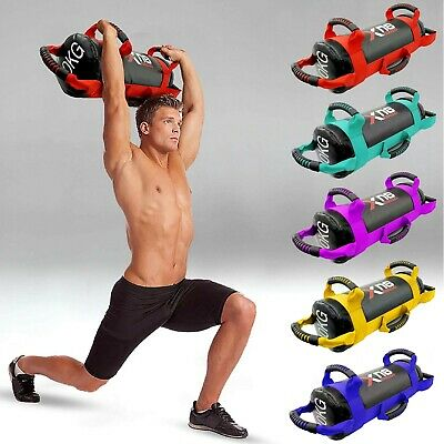 Weighted Training Bag Fitness Power Sand bags Handles Weight Lifting Bagbase Gym
