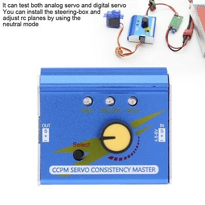 Steering Gear Tester 3 Modes ESC Servo Motor For RC Helicopters Adjustment Parts