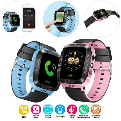 Anti-Lost GPS Tracker SOS Call GSM Smart Watch Kids Safe Android IOS Phone New