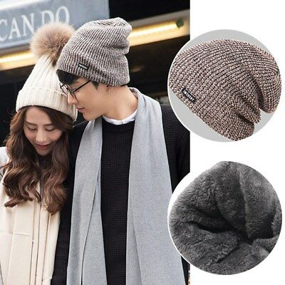 Fashion Wool Knit Handmade Men Beanie New Hat Warm Winter Cap Gifts For Him Hot