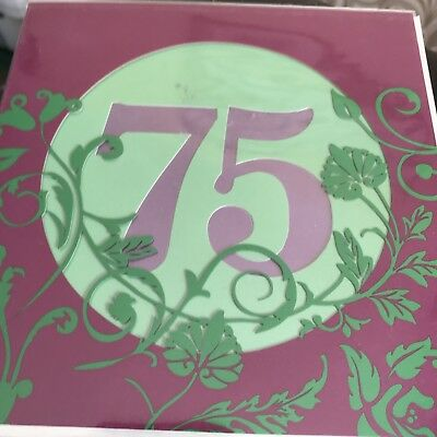 Ladies 75th Birthday Card Seventy Five Today Age 75