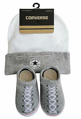 Converse Vintage Grey Heather Baby Hat & Sock Set (0-6 Months)
