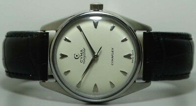 Vintage Cyma Winding Sub Seconds Swiss Made Wrist Watch S489 Old Used Antique