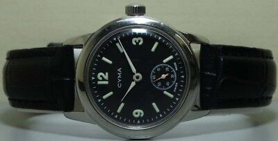 Vintage CYMA WINDING Sub Seconds SWISS MADE WRIST WATCH S127 Old Used Antique