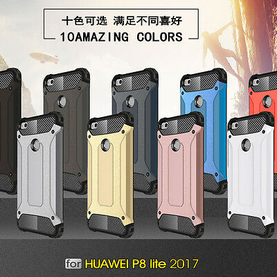 For Huawei P8 P9 P10 Lite P20 Pro Shockproof Armor Hybrid Hard Back Case Cover