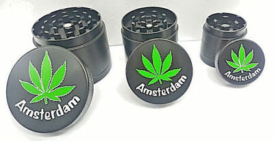 4 layer Herb Grinder Spice Tobacco Zinc Alloy Crusher Amsterdam
