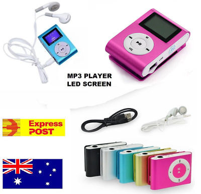 Mini USB Clip MP3 Player With LCD Screen, up to 64GB Micro SD Card- SALE