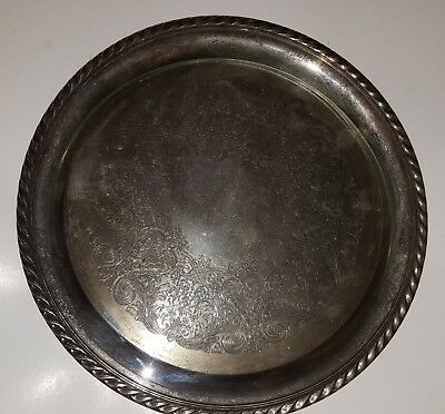 Wm. A. Rogers Silverplate Plate With Glass Cover