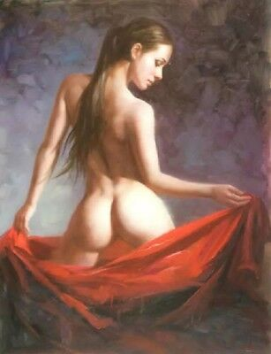 Hand painted Original Oil painting art Impressionism girl on Canva #018 No Frame