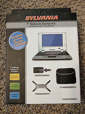 "Sylvania 7"" Netbook Starter Kit 3 PC Accessories Mouse  Cooling Fan & Sleeve NEW"