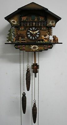 Small  3 Train Automaton Musical Cuckoo Clock.