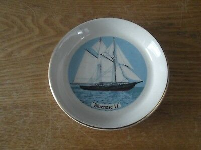 "BLUENOSE II Schooner 4.5"" Lord Nelson Pottery Plate * Made in England"