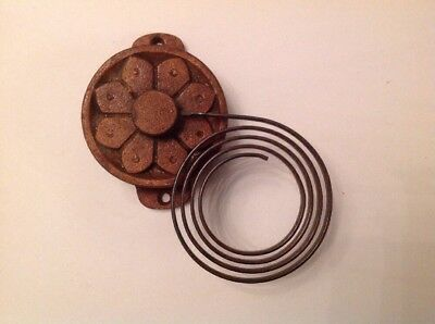 Wall Clock Chime Flat Wire Floral Gong Antique Clock Part Iron Base 130x70mmmm