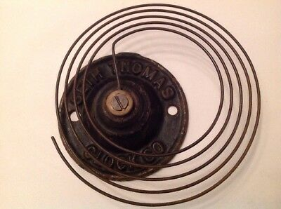 Seth Thomas Clock Chime Gong Antique Clock Part Iron Base 80mm Overall 120mm