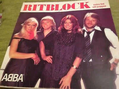 ABBA RITBLOCK RARE SCRAPBOOK Mint Swedish