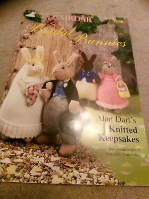 Knitting pattern book Alan dart bridal bunnies
