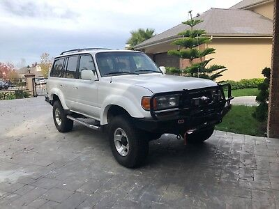 1993 Toyota Land Cruiser 4WD 4x4 128K mi CARFAX Fj80 3rd Row! 1993 Toyota Land Cruiser 4WD 260k lots of upgrads