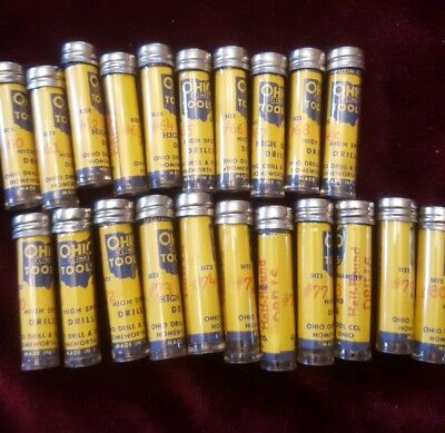 Lot of 21 Vials of Ohio Line Tools High Speed Drills. #'s 60 - 80!!