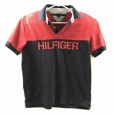 4a18a482fe2 Vintage 90's Tommy Hilfiger Polo Shirt Mens Size L Large Big Embroidered  Logo