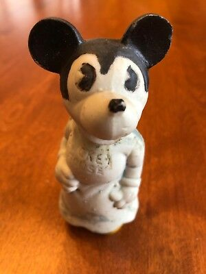 """Vintage 1930's Minnie Mickey Mouse 4"""" Bisque Figurine Made in Japan No. S1277"""