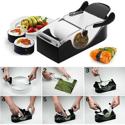 Magic Sushi Roll Maker DIY Rice Roller Mold Perfect Cutter Easy Sushi Making