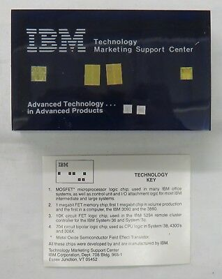 Vintage IBM Computer Chip Lucite Paperweight - Advanced Technology Products