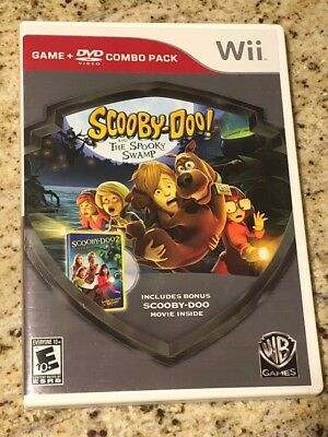 Wii Scooby-Doo and the Spooky Swamp DVD Combo Pack COMPLETE (Nintendo Wii, 2010)