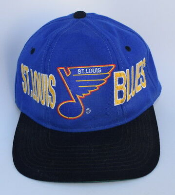 3bf9c002444 NHL ST. LOUIS BLUES Adjustable Snapback 100% WOOL STARTER Baseball Cap Hat