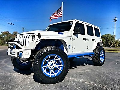 """2018 Jeep All-New Wrangler Unlimited WHITE N' BLUE CUSTOM JL LEATHER LIFTED JL CUSTOM LIFTED*LEATHER*HARDTOP*37""""s*DV8*OCD*IRON CROSS*XD*ARIES*QUAKE"""