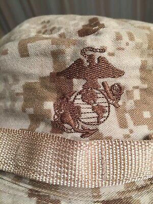 Military Issue USMC Marine MARPAT Desert Camo Boonie Field Cover Hat X-Large