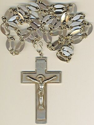 Antique Russian  Imperial   Sterling Silver Icon Cross  Original   (#1494s)