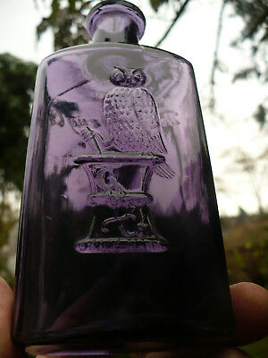 Deep purple OWL DRUG CO one wing owl  6  1`/8 inches