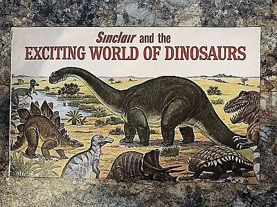 Vintage 1966 Sinclair and the Exciting World of Dinosaurs, Gas & Oil Advertising